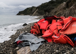 """shireen von schulthess a still photograph from a film, """"the lifejacket"""""""